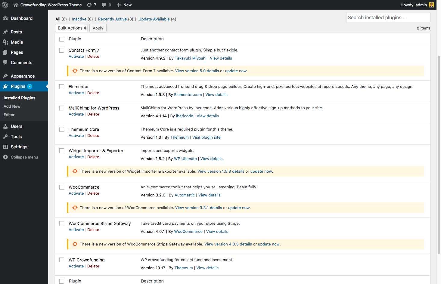 WordPress crowdfunding theme