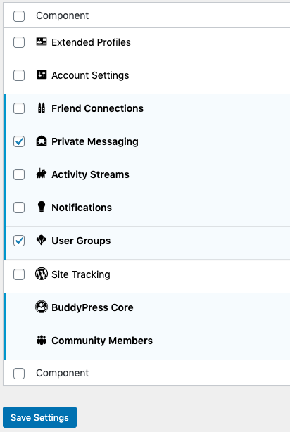 tutor lms settings buddypress enable private messaging user groups